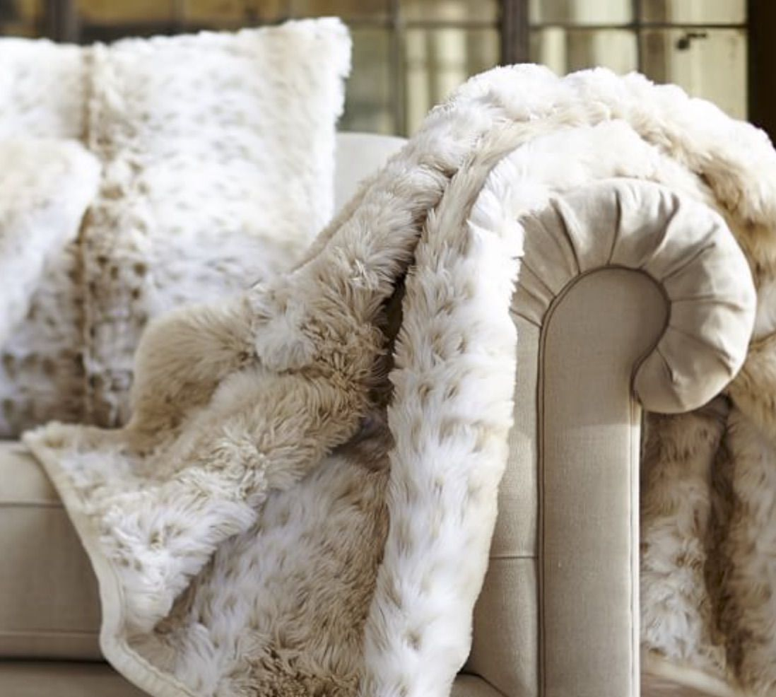 How To Keep A White Sofa White Over The Holidays Maria Killam True Colour Expert Faux Fur Throw Blanket Faux Fur Throw Fur Throw Blanket