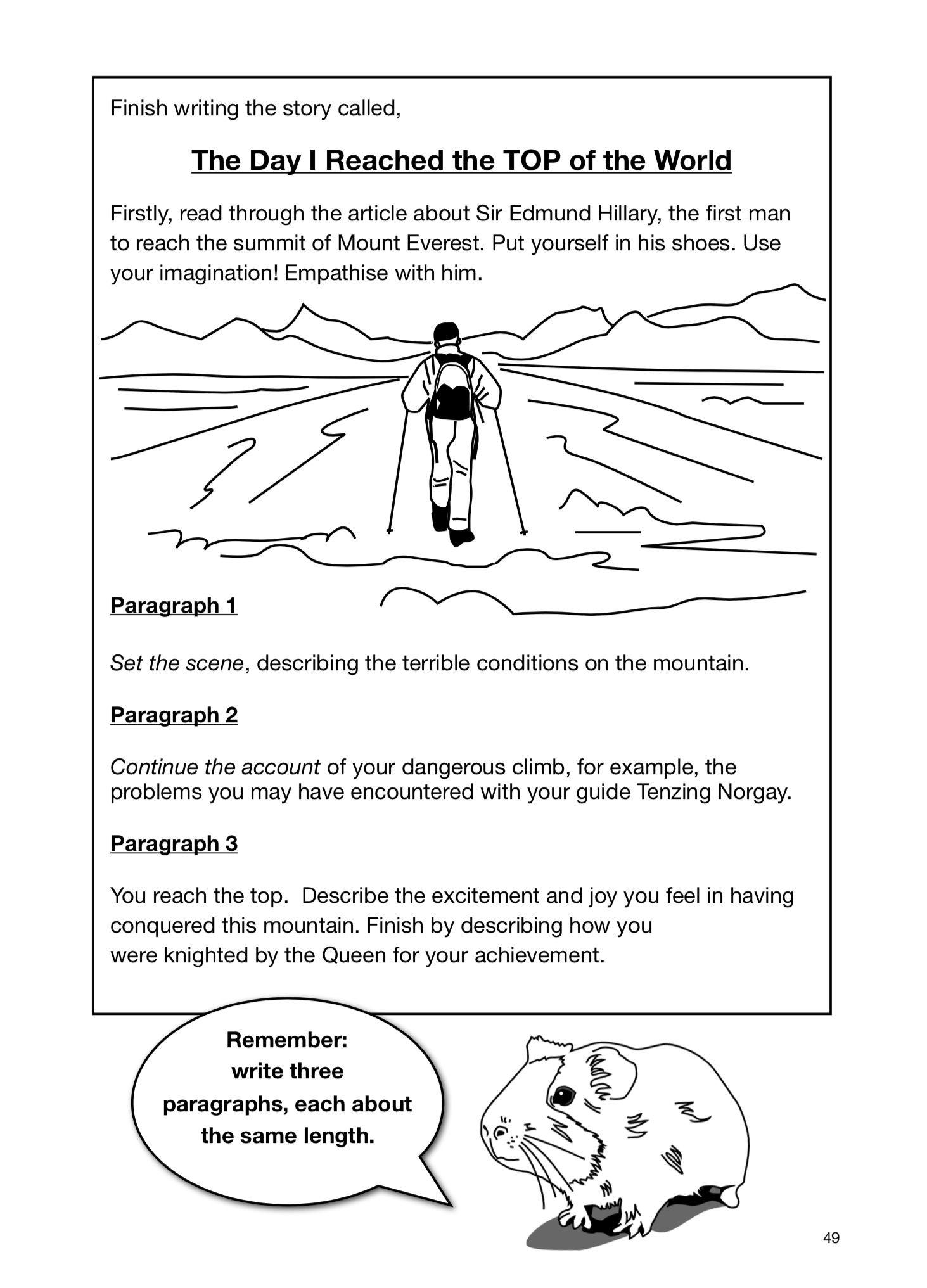 Sample Page Creative Story Writing 9 14 Years