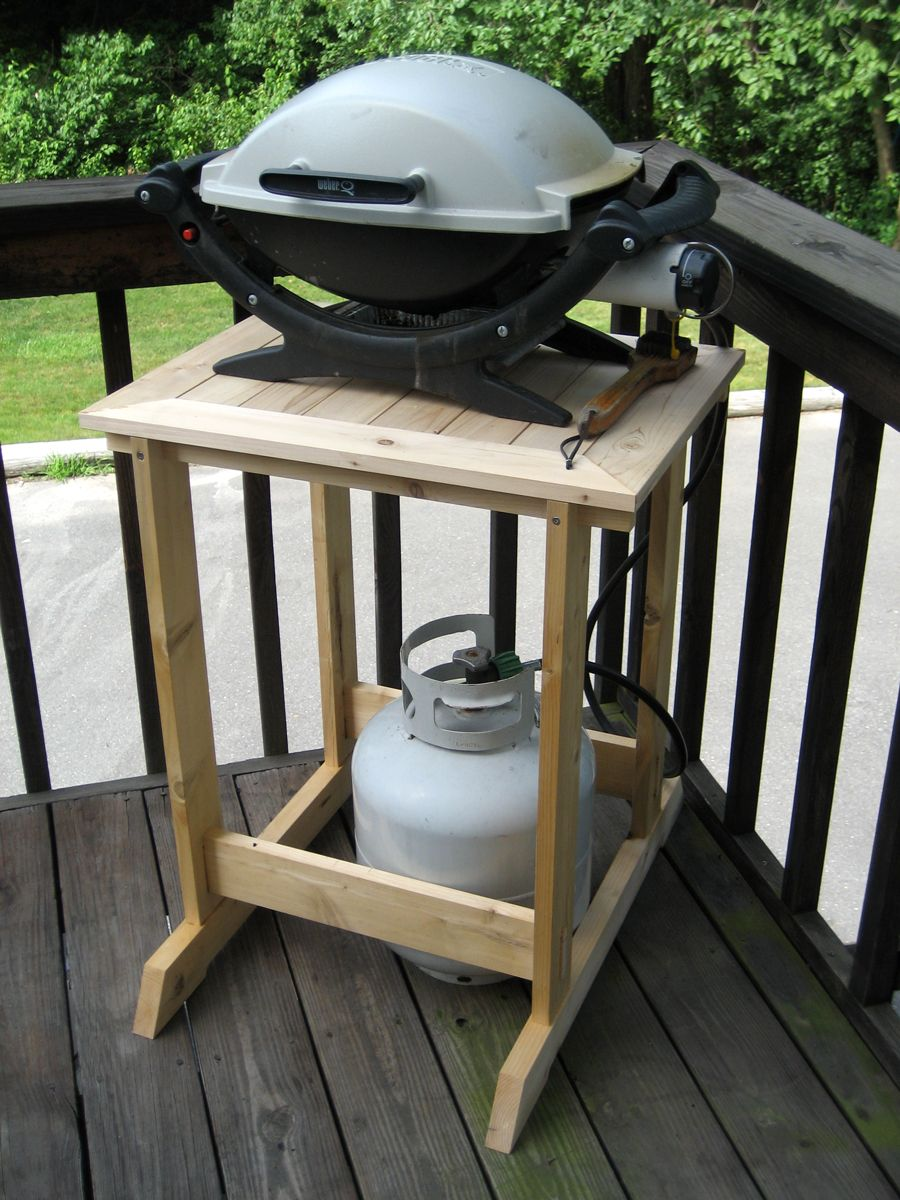 Grill Stand Fit For A Woodworker In