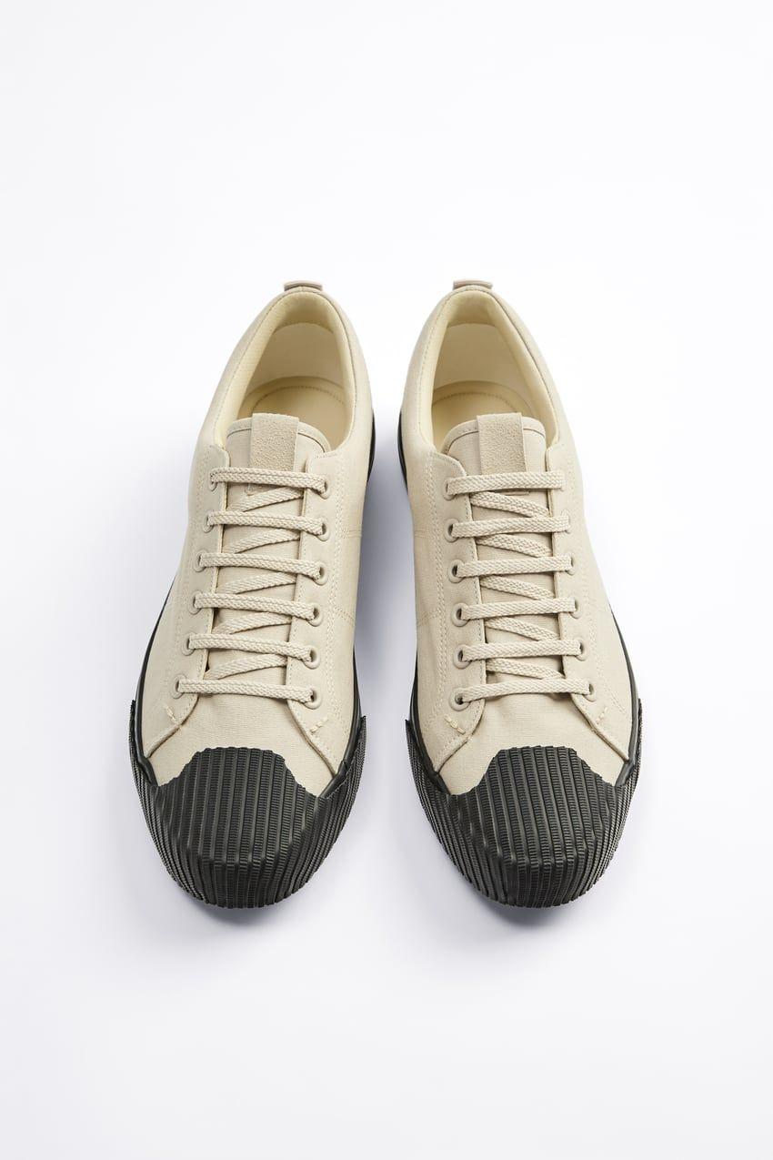 Tenisowki Z Ozdobnym Noskiem Zara Polska Poland Sneakers Casual Sneakers Plimsolls