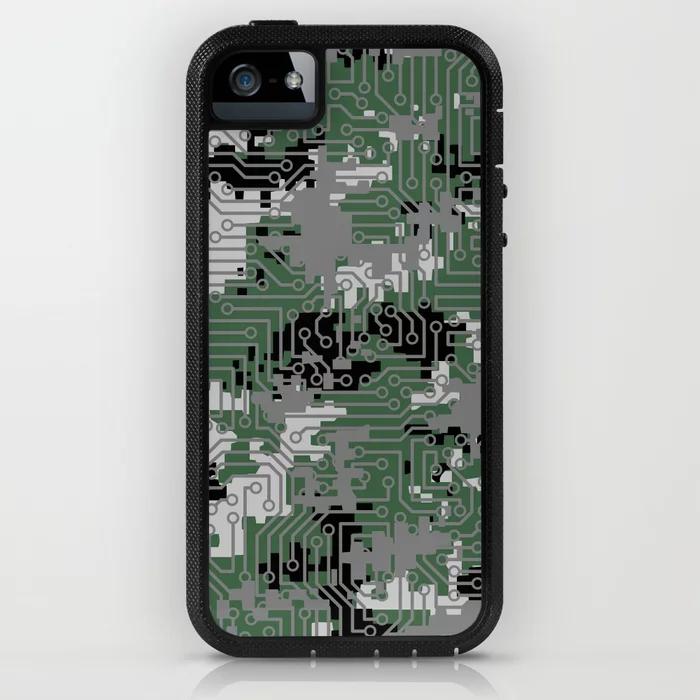 Computer Circuit Camo URBAN GAMER iPhone Case by grandeduc