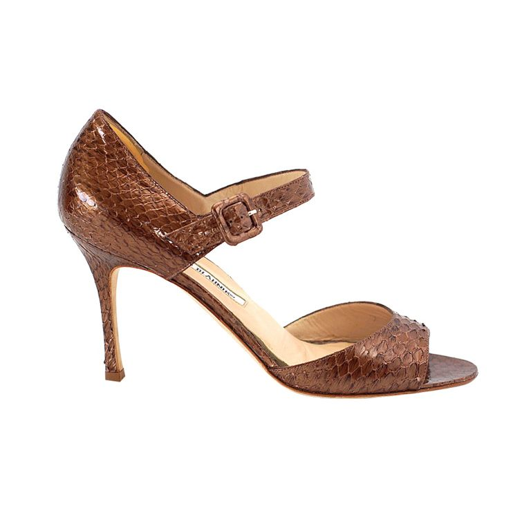 1stdibs | MANOLO BLAHNIK Shoe copper snake 9 sensational  MINT