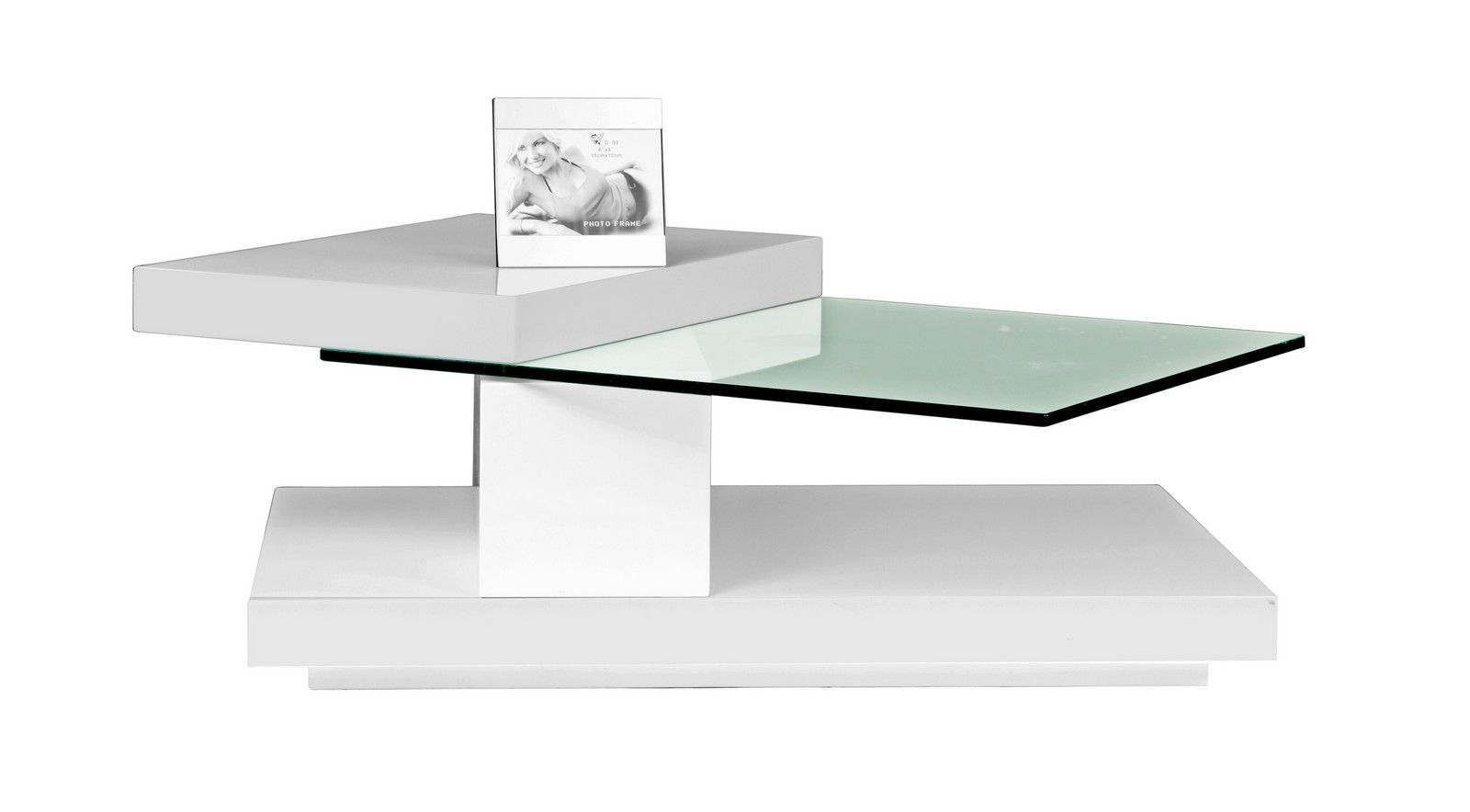 Swing white gloss coffee table with swivel glass top doces swing white gloss coffee table with swivel glass top geotapseo Gallery