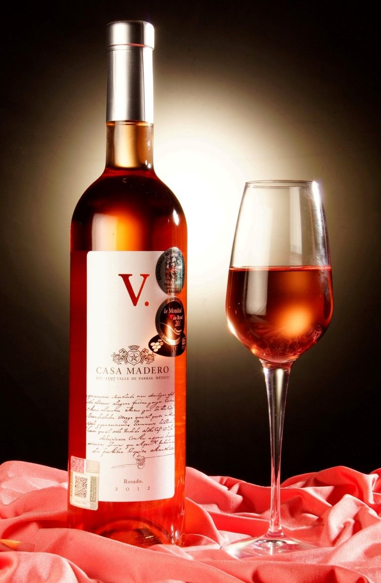 Copa De Vino Rosado Wine Bottle Wines Rose Wine Bottle