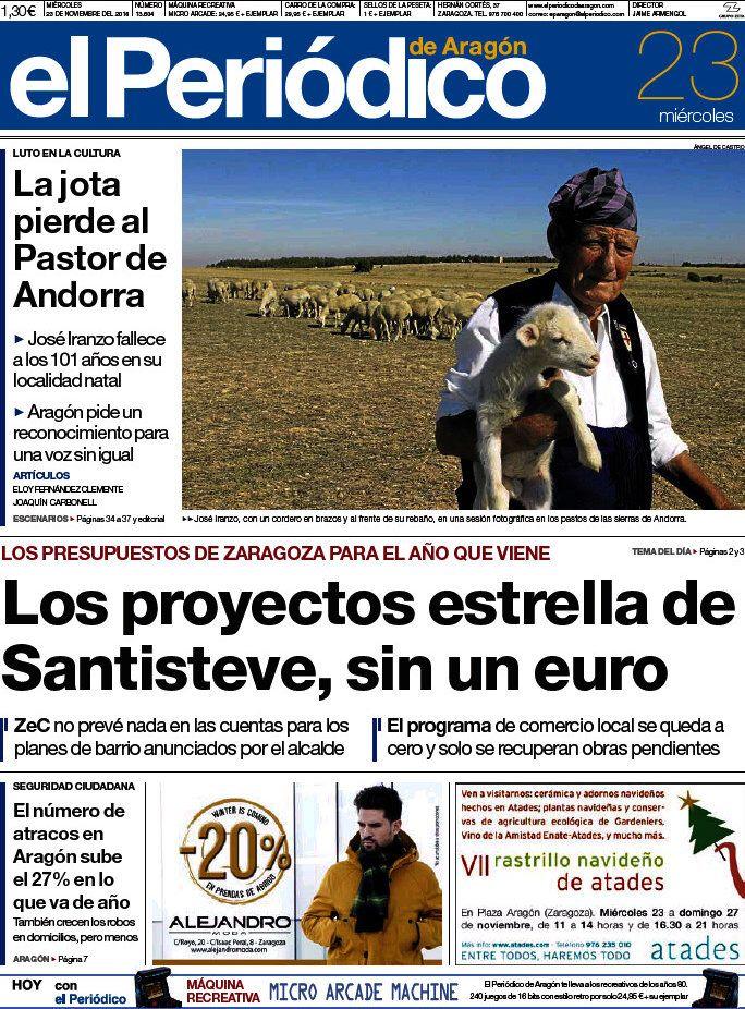 PASTOR DE ANDORRA, muere a los 101 años. El Periódico de Aragón