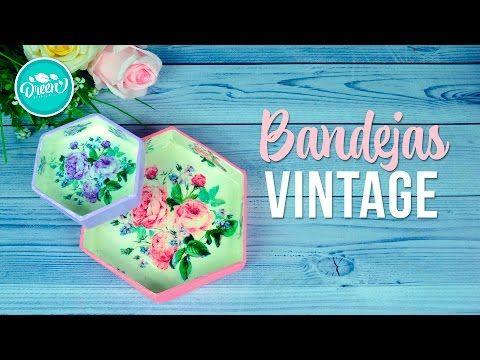 DIY Bandejitas vintage con decoupage | DREEN - YouTube