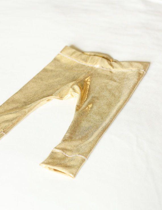 2484b0befa708 Baby Metallic Gold Leggings Baby Clothing Baby by Blushbytaylor, $15.99