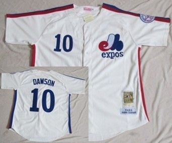 timeless design 40052 38df3 Montreal Expos #10 Andre Dawson Cream Throwback Jersey | MLB ...