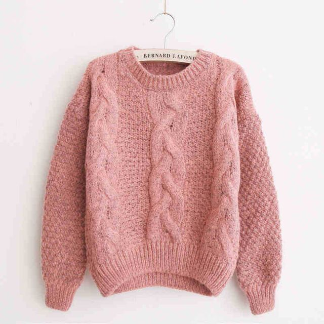Special offer Pink Sweater Women Pull Femme 2017 Korean Jumper ...