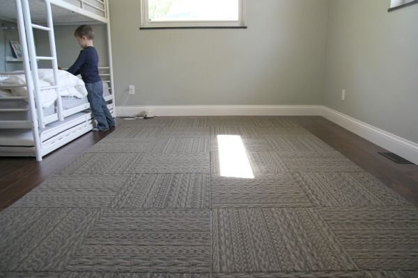 sweater weather grey carpet tiles by flor on