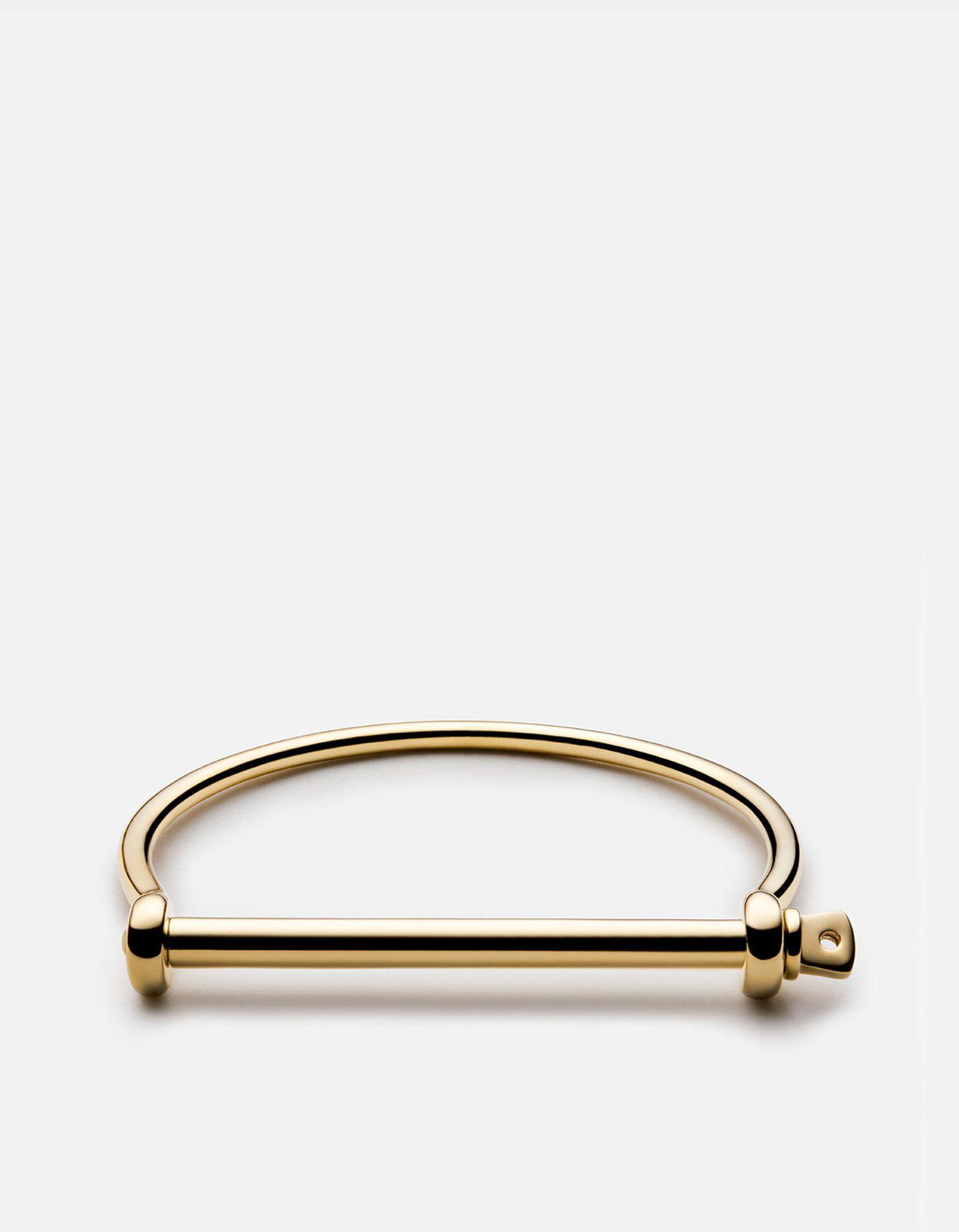 Thin Screw Cuff Gold Screw Cuff Miansai Screw Cuff Gold Bracelet Cuff