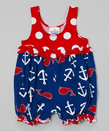 Look what I found on #zulily! Blue Whales Tail Baby Bubble Bodysuit - Infant #zulilyfinds