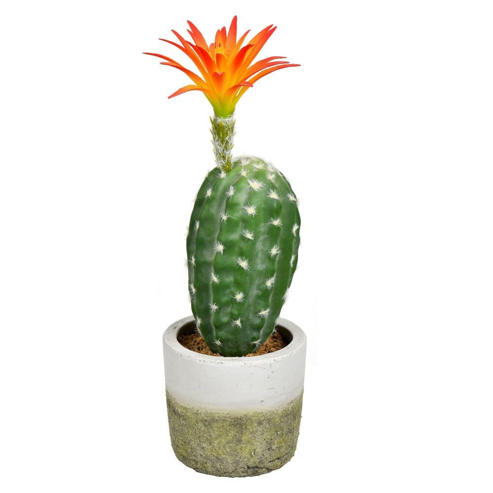 Vickerman 12 Green Cactus In Cement Pot In A 5 Lx5 Wx4 H Base In 2021 Cactus Plant Pots Cactus Plants Artificial Cactus