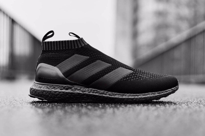 A Closer Look At The Adidas Ace16 Ultraboost Triple Black Sneakers Fashion Sneakers All Black Sneakers