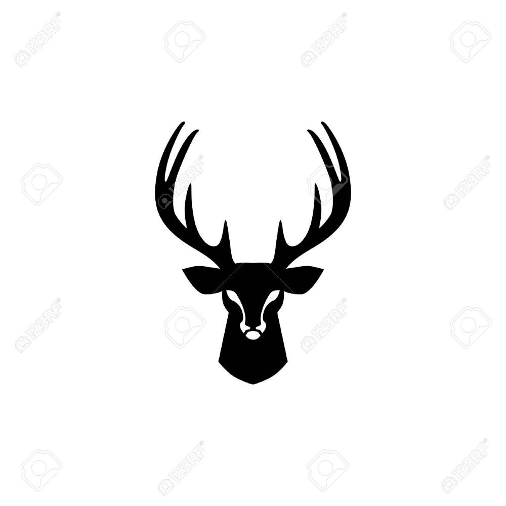 Deer Head Logo Vector Design Inspirations Vector Design Vector Logo Deer Vector