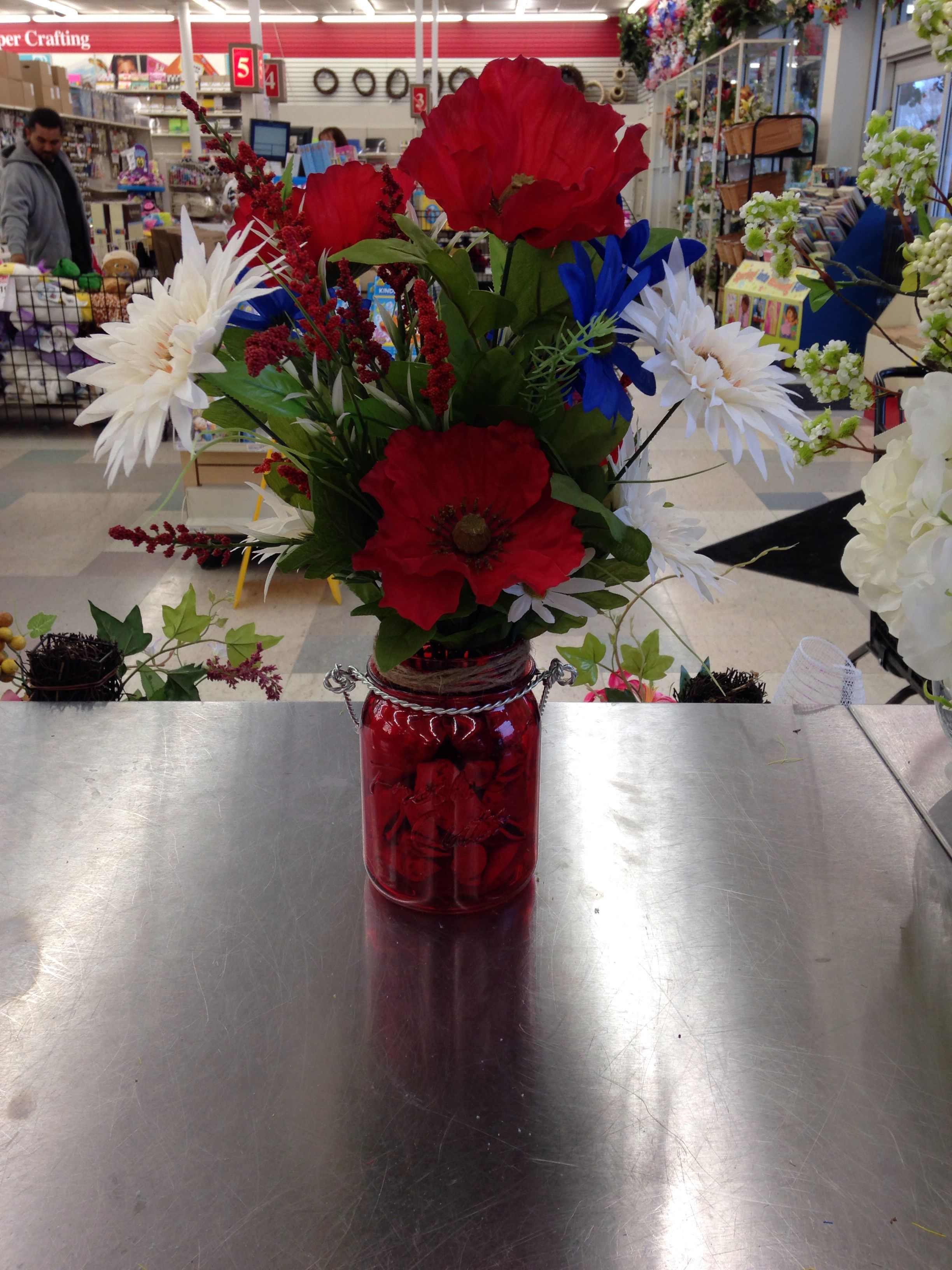 Red white blue arrangement
