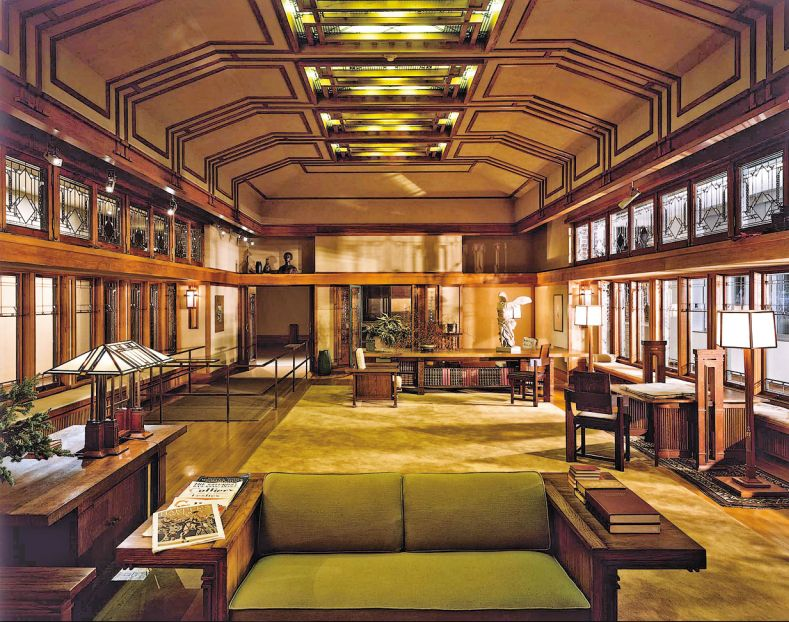 Gentil Robie House Interior, By Frank Lloyd Wright