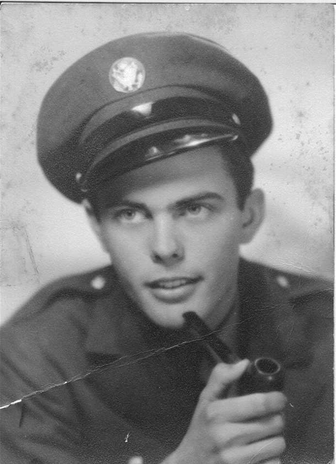 My grandfather, Falvey Smith, in his military uniform.  Pre-Polio.
