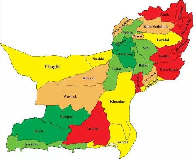 Balochistan map | Pakistan in 2019 | Pakistan map, Pakistan, Map