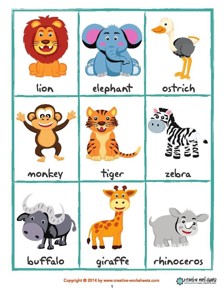 Safari Workbook Safari Animals Animals Wild Animals [ 1100 x 850 Pixel ]
