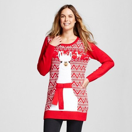 Women's Ugly Christmas Fairisle Llama Sweater Tunic XL - 33 ...