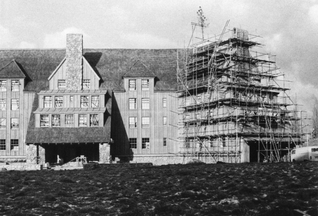 Shining Overlook Hotel Facade Under Construction