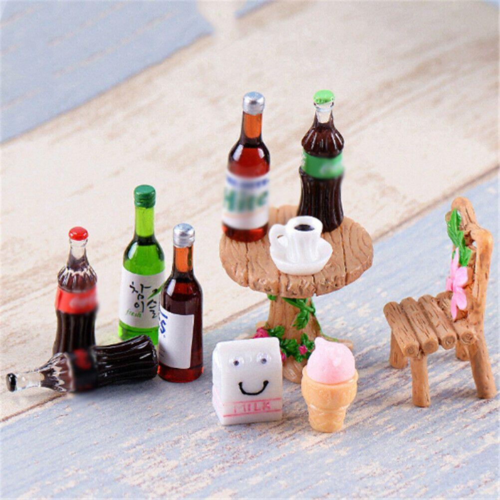 5X Mini Beer Drinks Milks Dollhouse Miniature Play Food for Doll Toy HHK