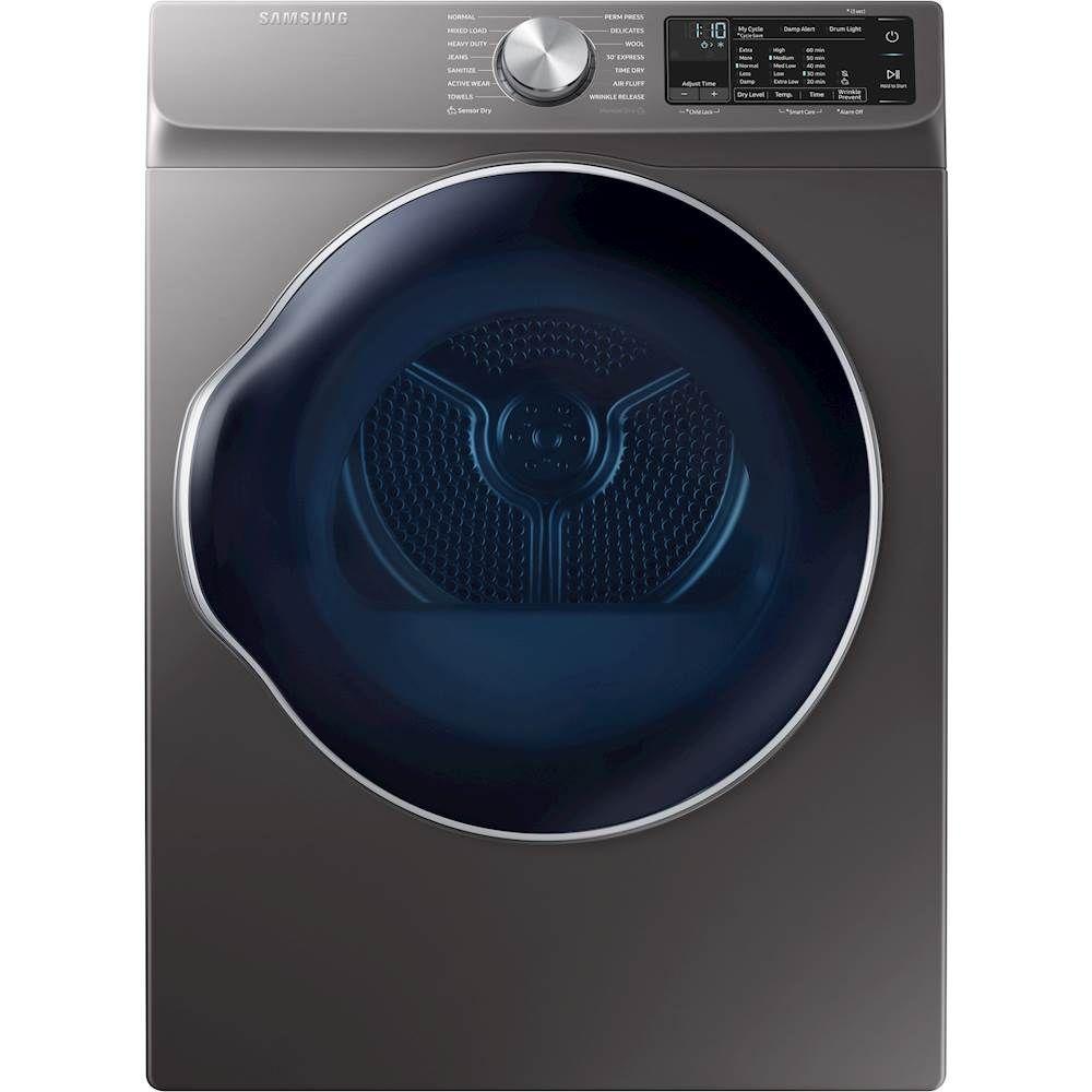 Best Buy Samsung 4 0 Cu Ft 12 Cycle Electric Dryer Inox Gray Dve22n6850x Electric Dryers Heat Pump Cool Things To Buy