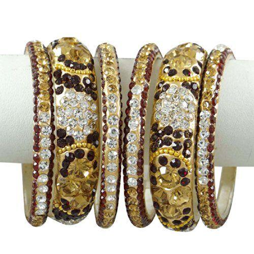 Ethnische Stein Silber Ton CZ Armband / Armreif Kada September September indischen Frauen Schmuck 2 * 6 | Your #1 Source for Jewelry and Acc...