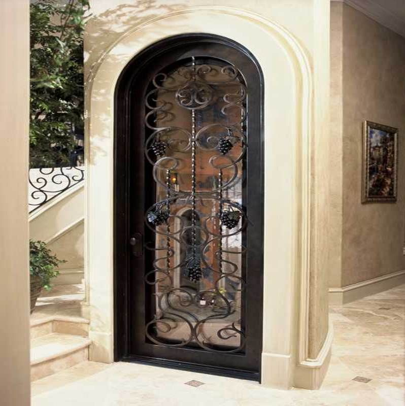 Hand Forged Wrought Iron Wine Cellar Door Grapevine Design