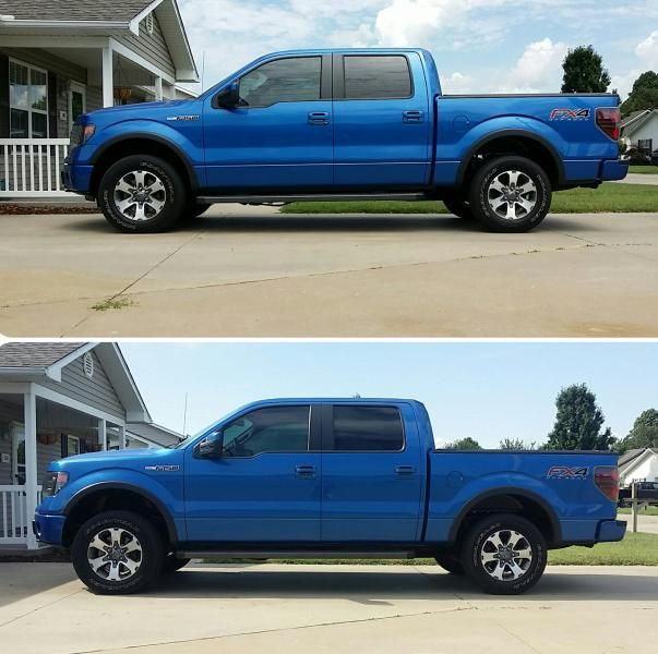In Leveling Strut Extensions Lift Kit For   Ford F  Rough Country Suspension Systems