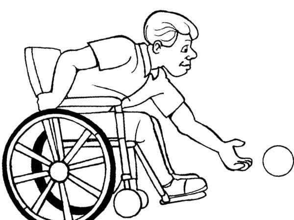 athletes bowling disabilities coloring page - Bowling Pictures To Color