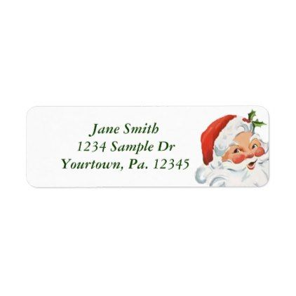 Santa Claus Return Address Label Return address - sample address label