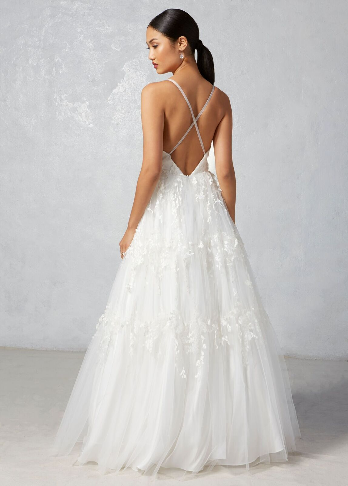 Dawn Ivy Aster Fall 2017 Collection Lace Criss Cross Back Wedding