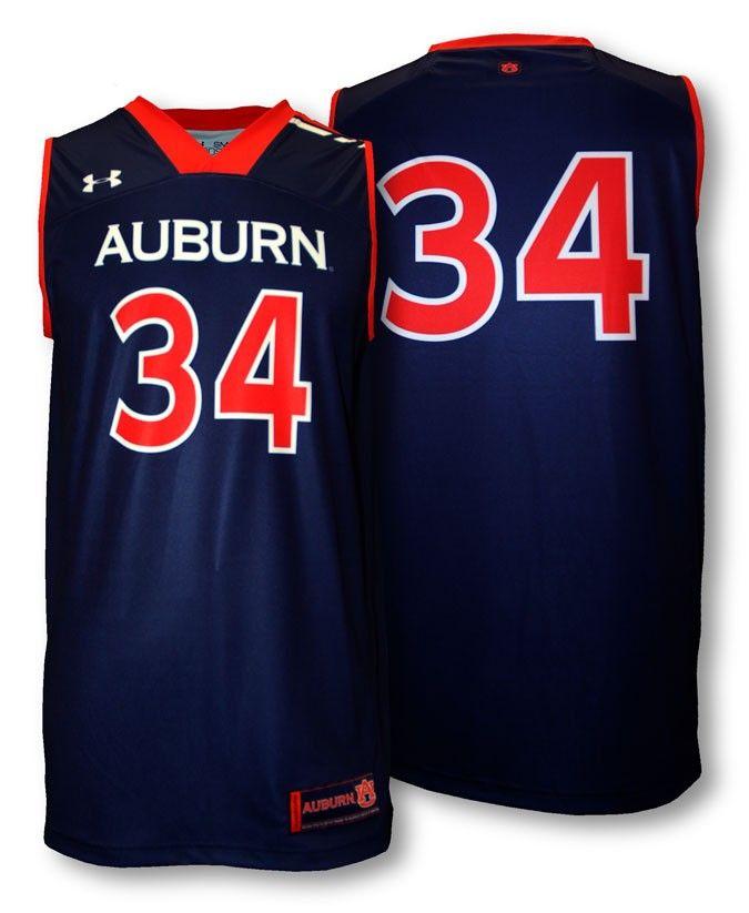 Auburn Under Armour 34 Replica Basketball Jersey
