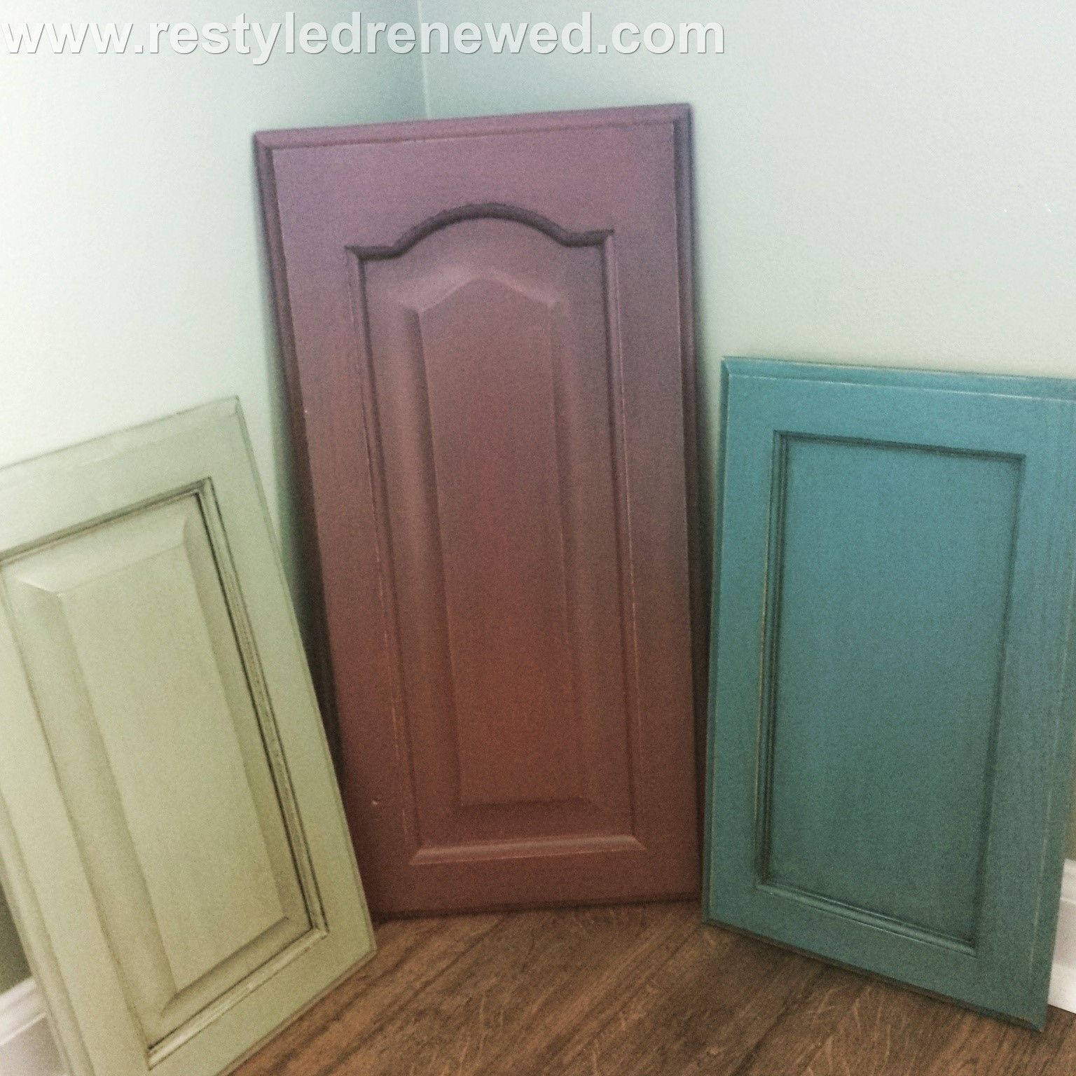 Red Kitchen Cupboard Doors Annie Sloan Chalk Paint Kitchen Cabinet Painted Door Samples I Did