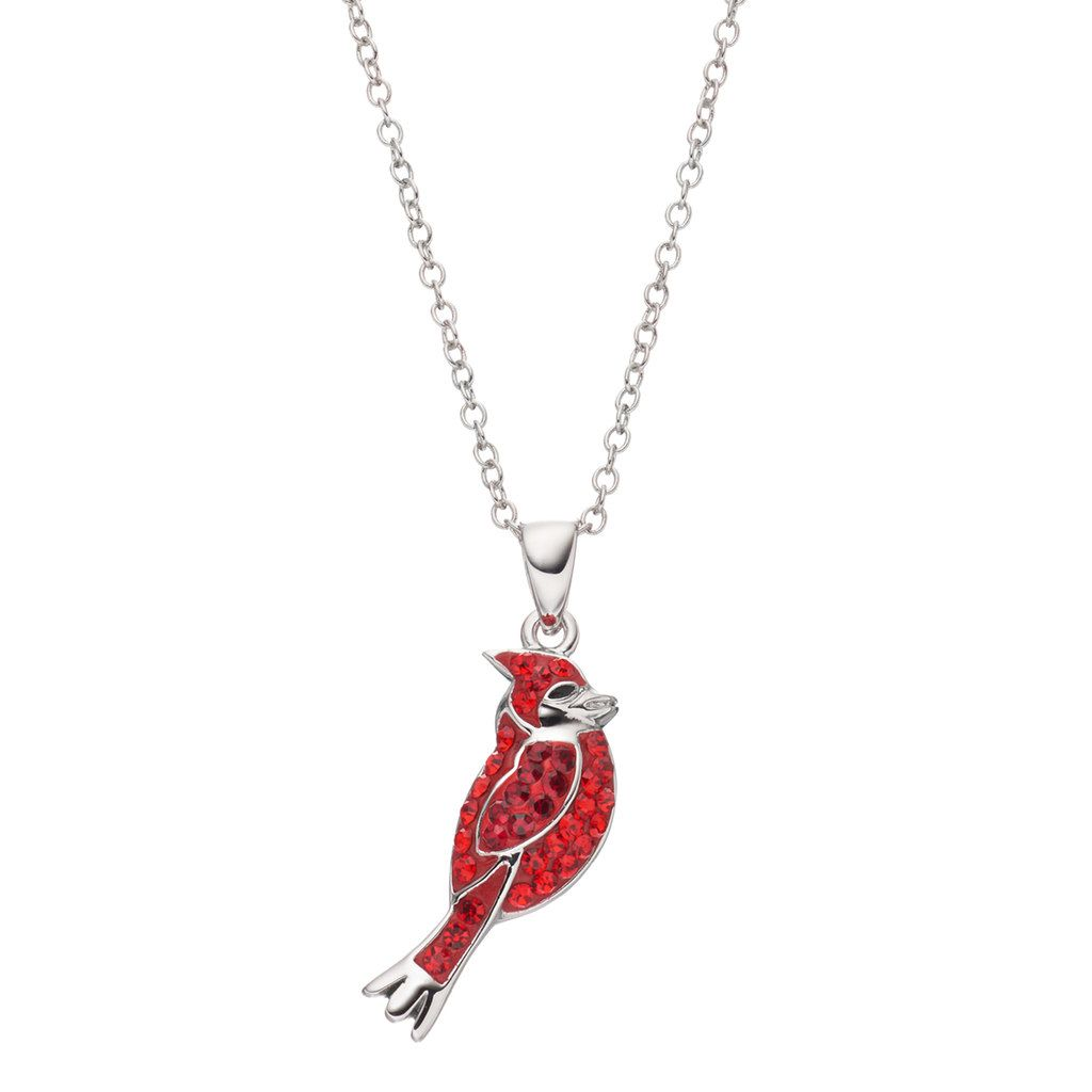 pendant snow with cardinal com charm cafepress round necklace amazon dp clothing