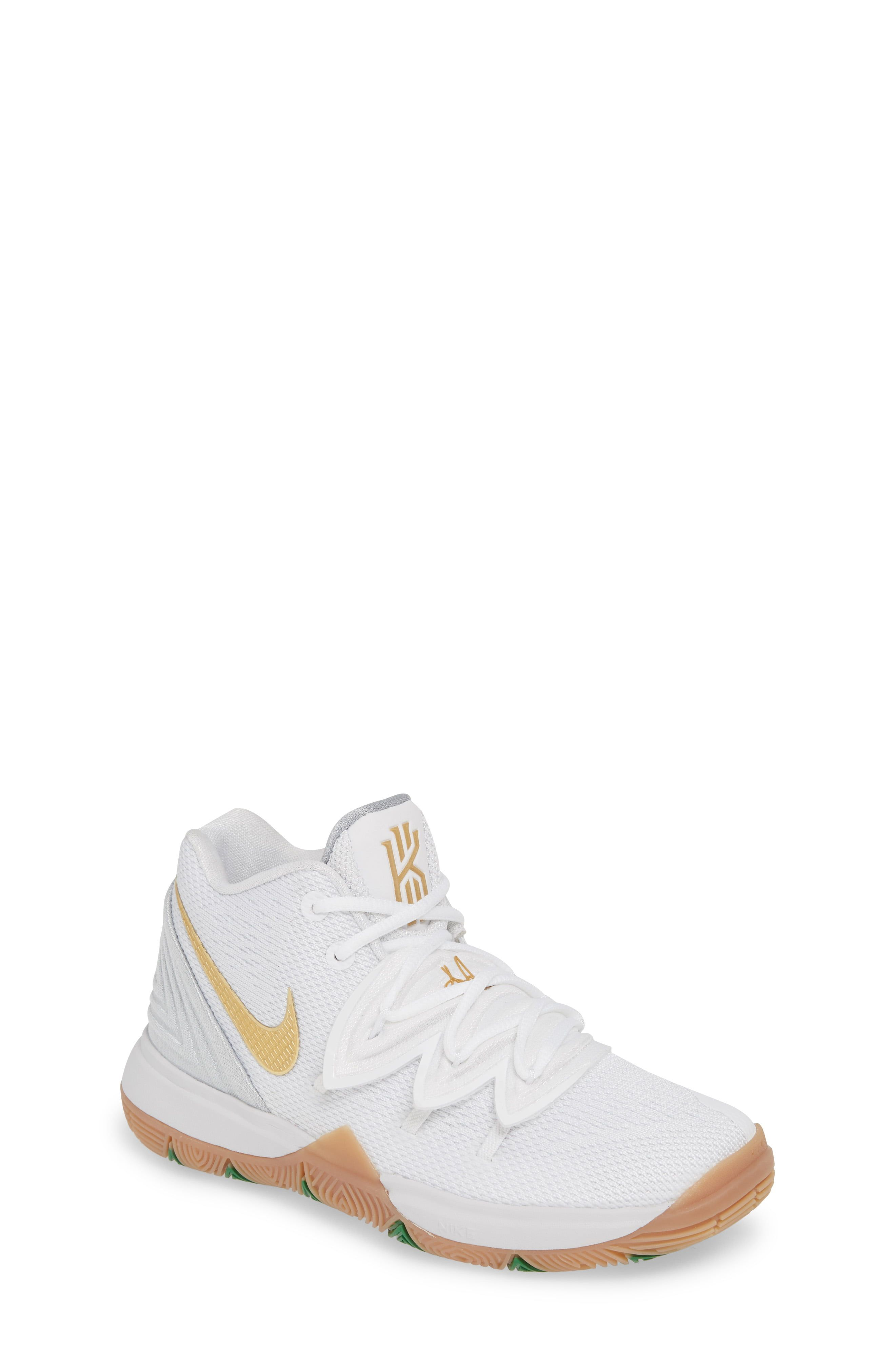 Toddler Nike Kyrie 5 Basketball Shoe Size 10 M White Girls Basketball Shoes Nike Kyrie Rieker Shoes