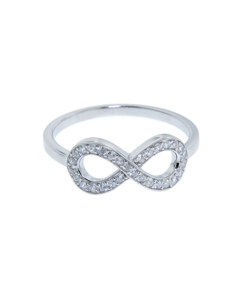 Sterling silver pave infiniti ring rings pinterest sterling sterling silver pave infiniti ring ahh i want this not as an engagement ring but i love it biocorpaavc Images