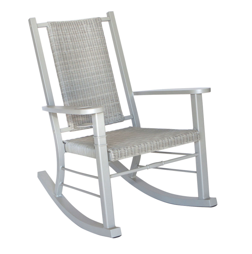 Front Porch Rocking Chair Patio Rocker Aluminum Weather Resistant