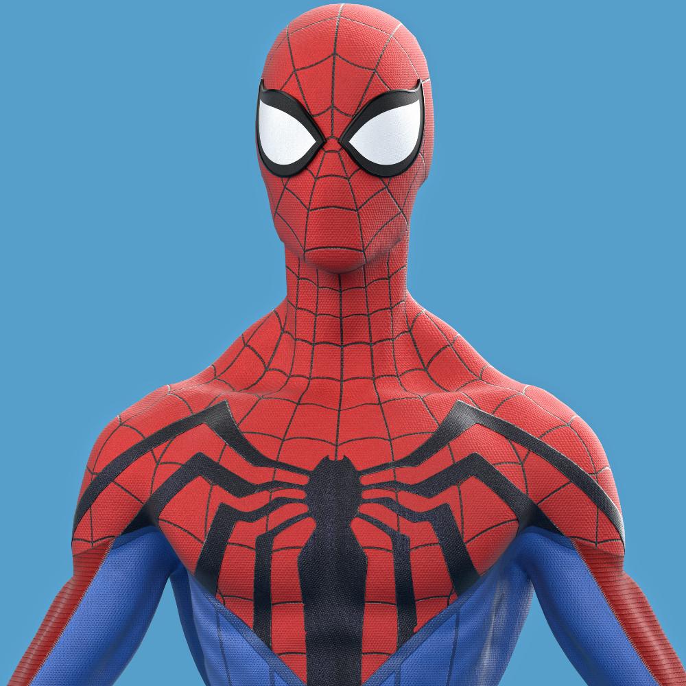 Artstation Spider Man Redesign 3d Christopher Hunt Spiderman Spiderman Cartoon Spiderman Art