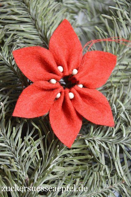 Eine Anleitung für Weihnachtssterne aus Filz #flowerfabric