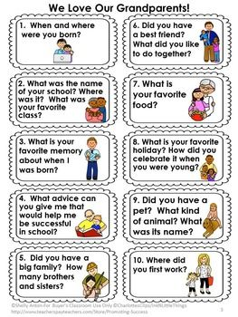 Grandparents Day Activities, Classroom Visit Interview Questions SPECIAL FRIENDS #grandparentsdaycrafts