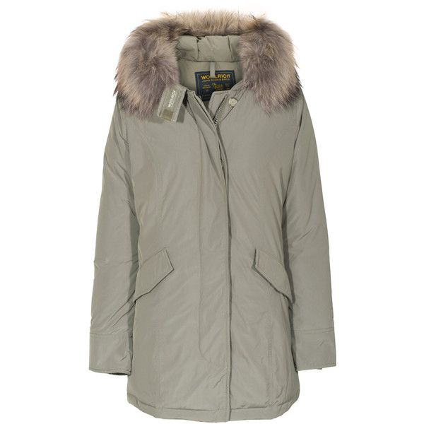 Woolrich W S Luxury Arctic Parka Beige Down Parka With Fur Trim 3 055 Brl Liked On Polyvore Featuring Oute Casaco Matelasse Casaco Com Capuz Parka Cinza