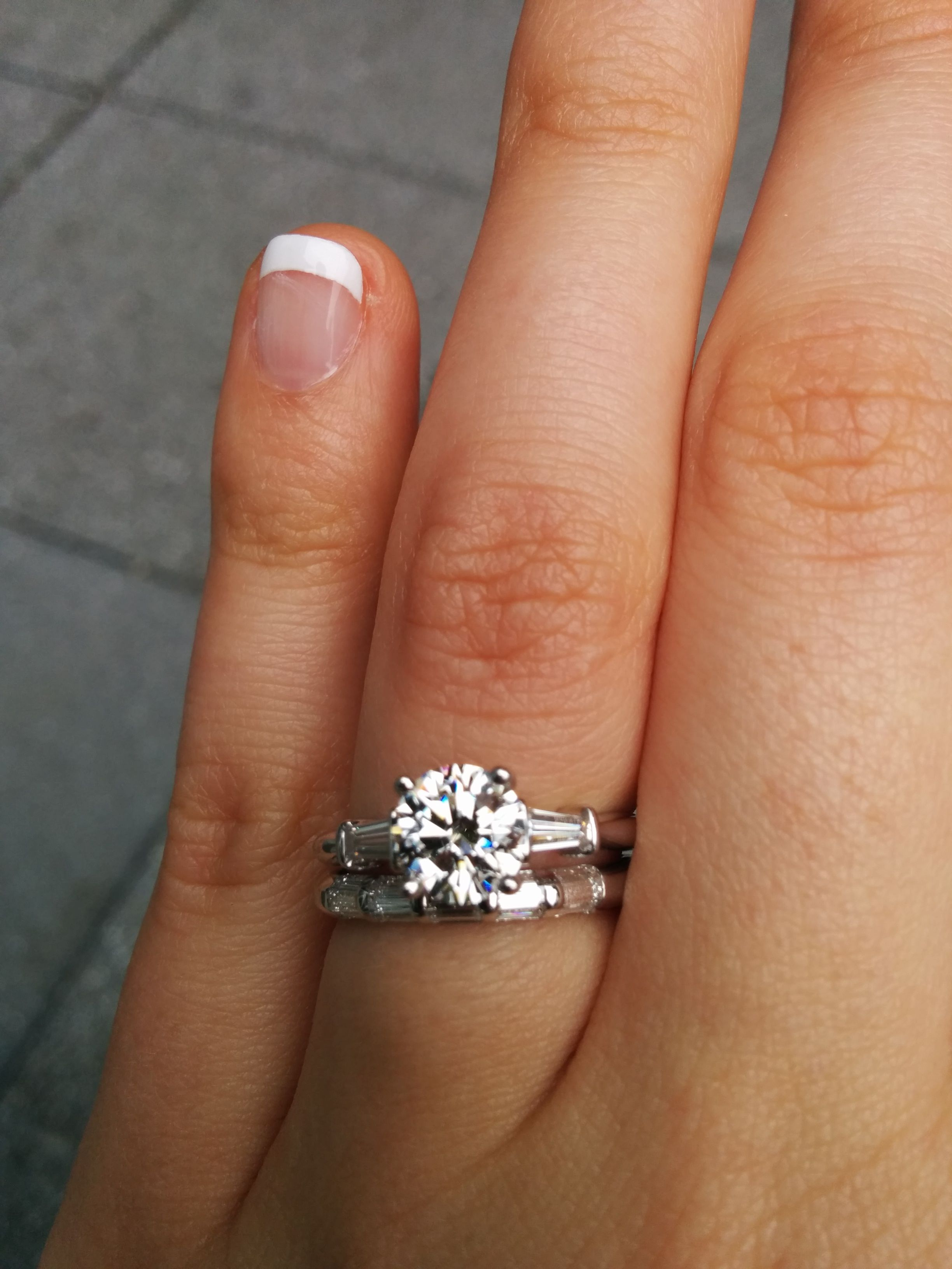 marquise baguette and my custom ct matched platinum made pin with engagement side halo rings diamond unique wedding ring