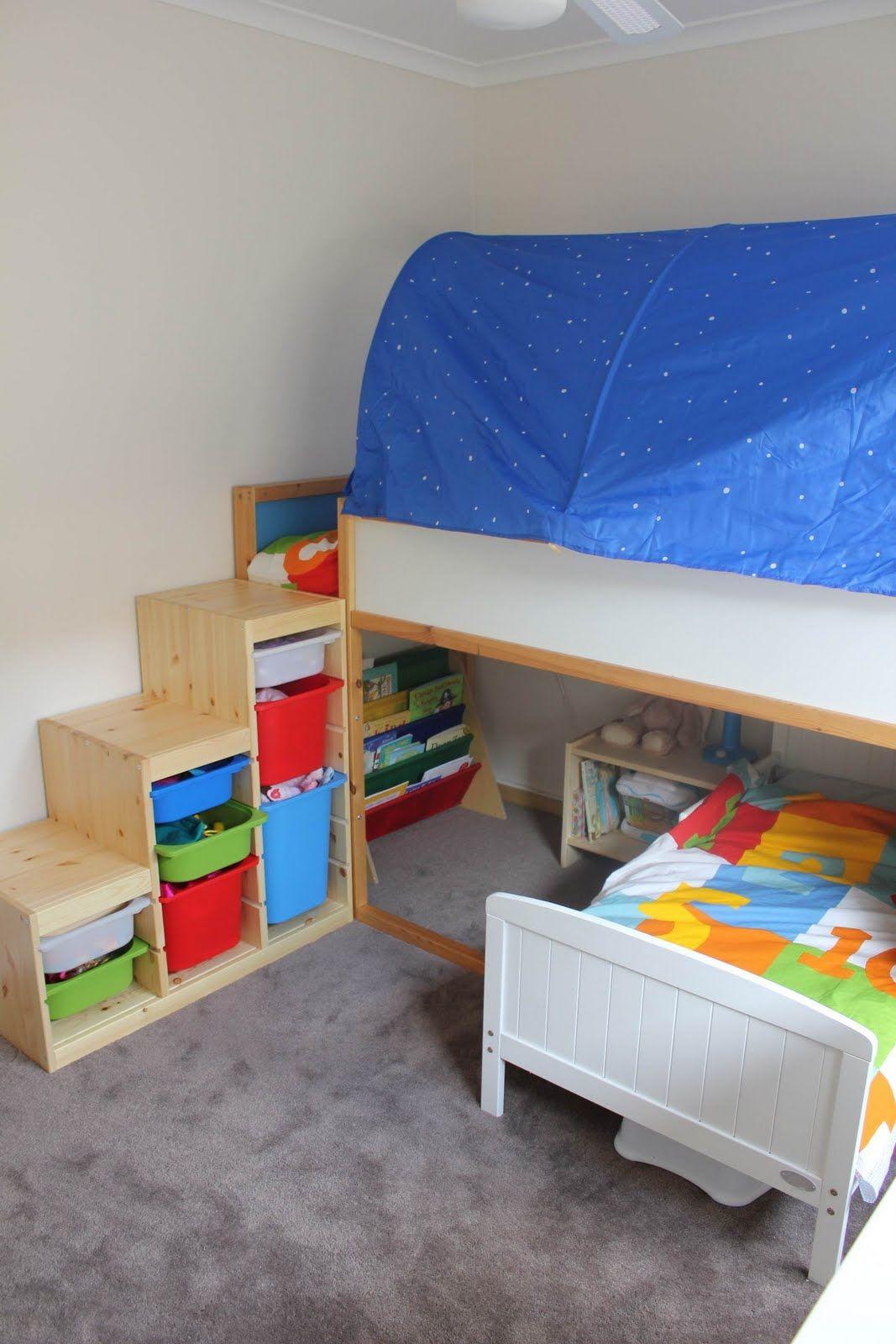 La Cama Kura De Ikea Es Muy Versatil Y Puede Colocarse En Distintas Posiciones Os Mostramos Muchas Ideas Para Disfrutarla El Cuarto Los Ninos