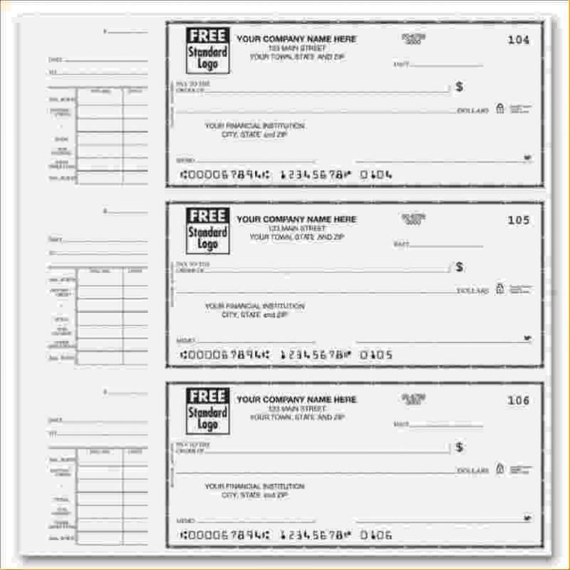 Free Check Stub Template Printables Printable checks