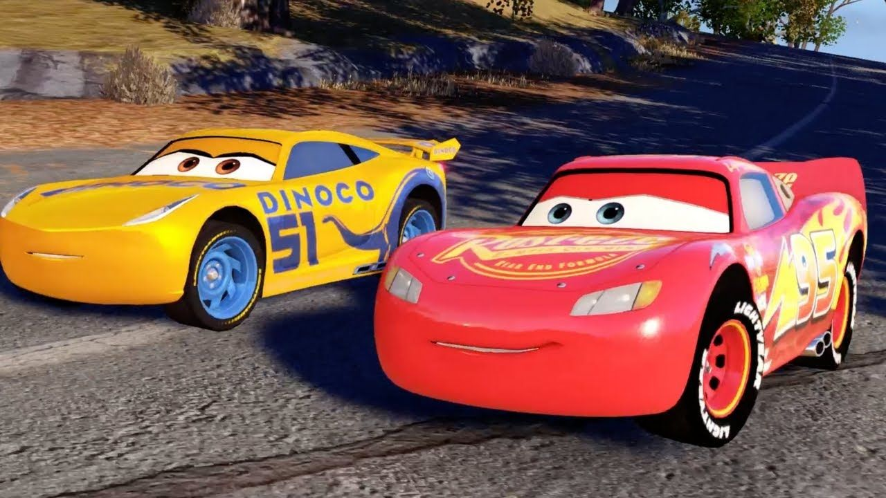 Cars 3 Driven To Win Intro Race All Cars Battle Power Ups