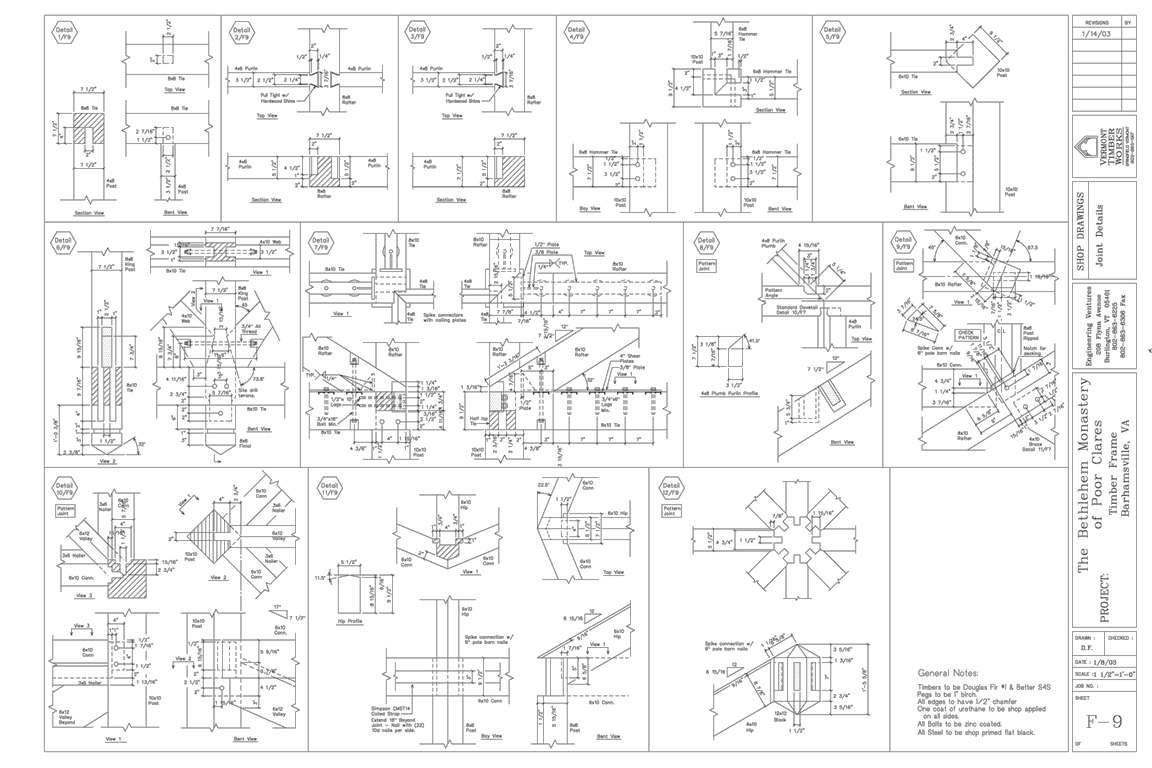 What are Timber Frame Shop Drawings? – Vermont Timber Works   Post ...
