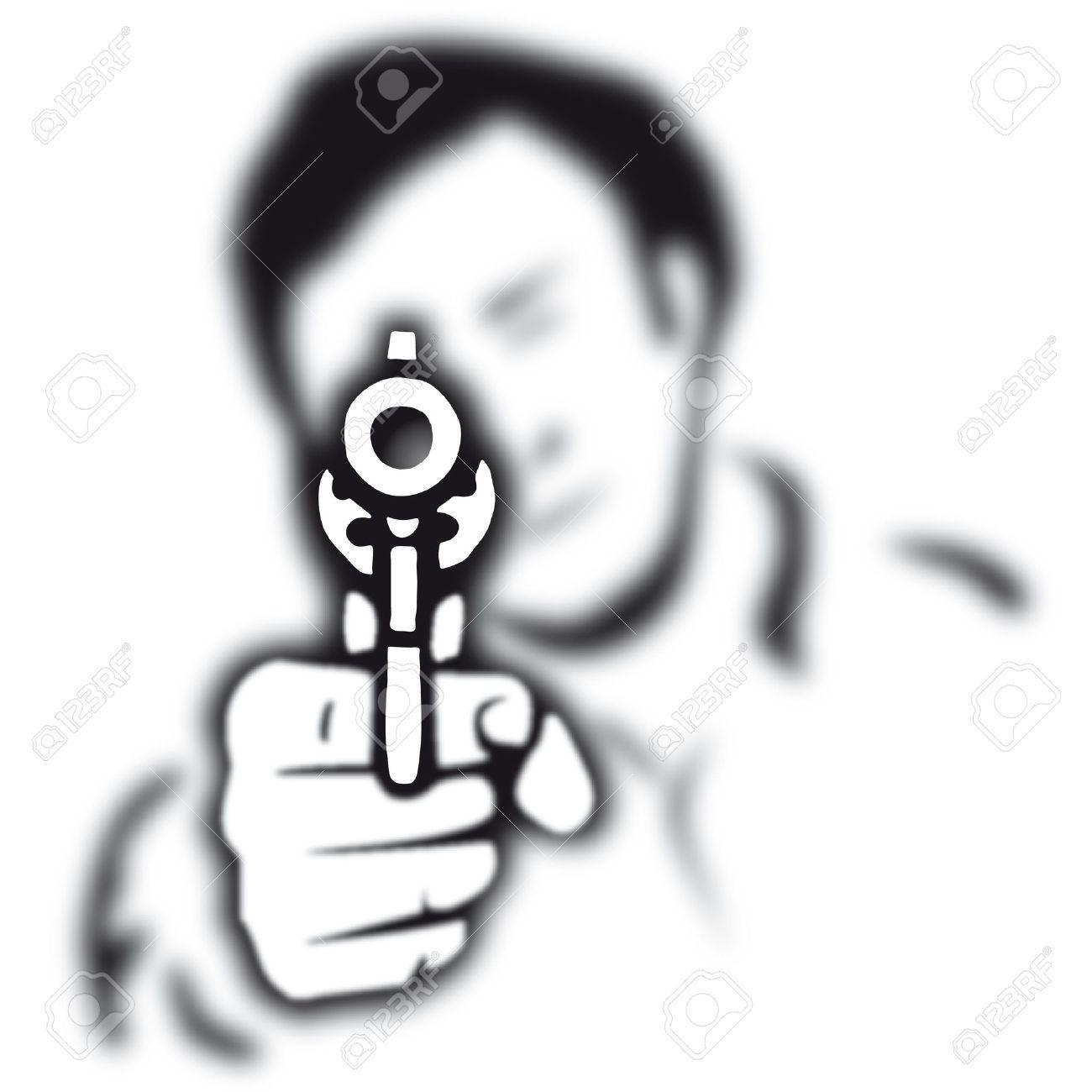 images for gun murder clipart [ 1300 x 1300 Pixel ]